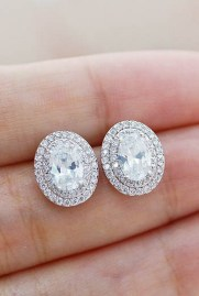 Earrings diamond wedding brides (169)
