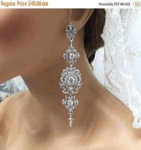 Earrings diamond wedding brides (30)