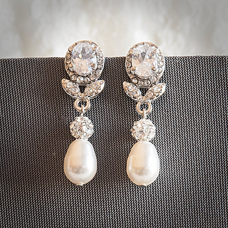 Earrings diamond wedding brides (31)