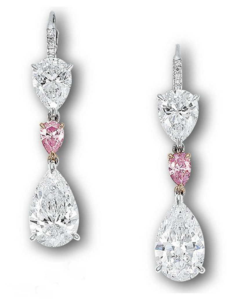 Earrings diamond wedding brides (32)