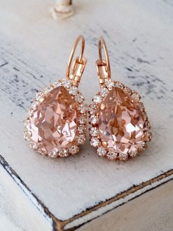 Earrings diamond wedding brides (35)
