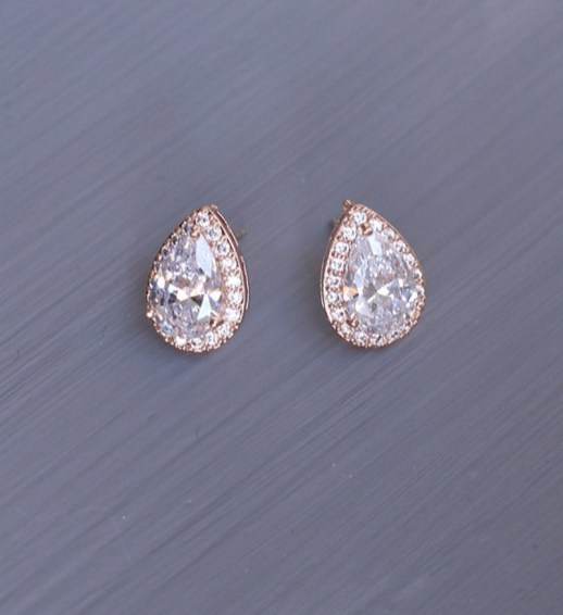 Earrings diamond wedding brides (40)