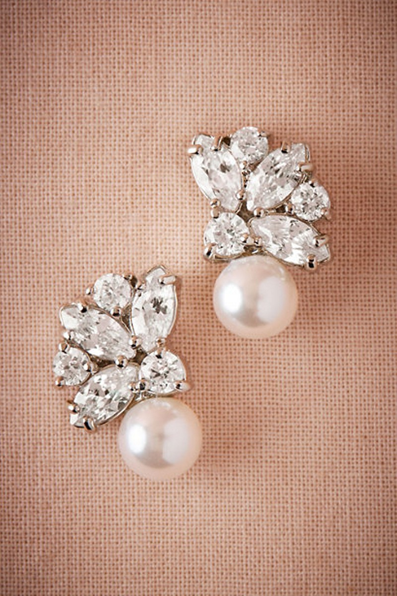 Earrings diamond wedding brides (44)