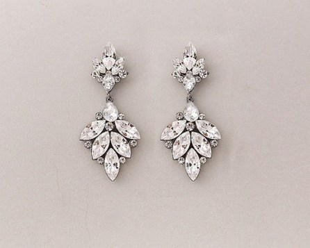 Earrings diamond wedding brides (51)