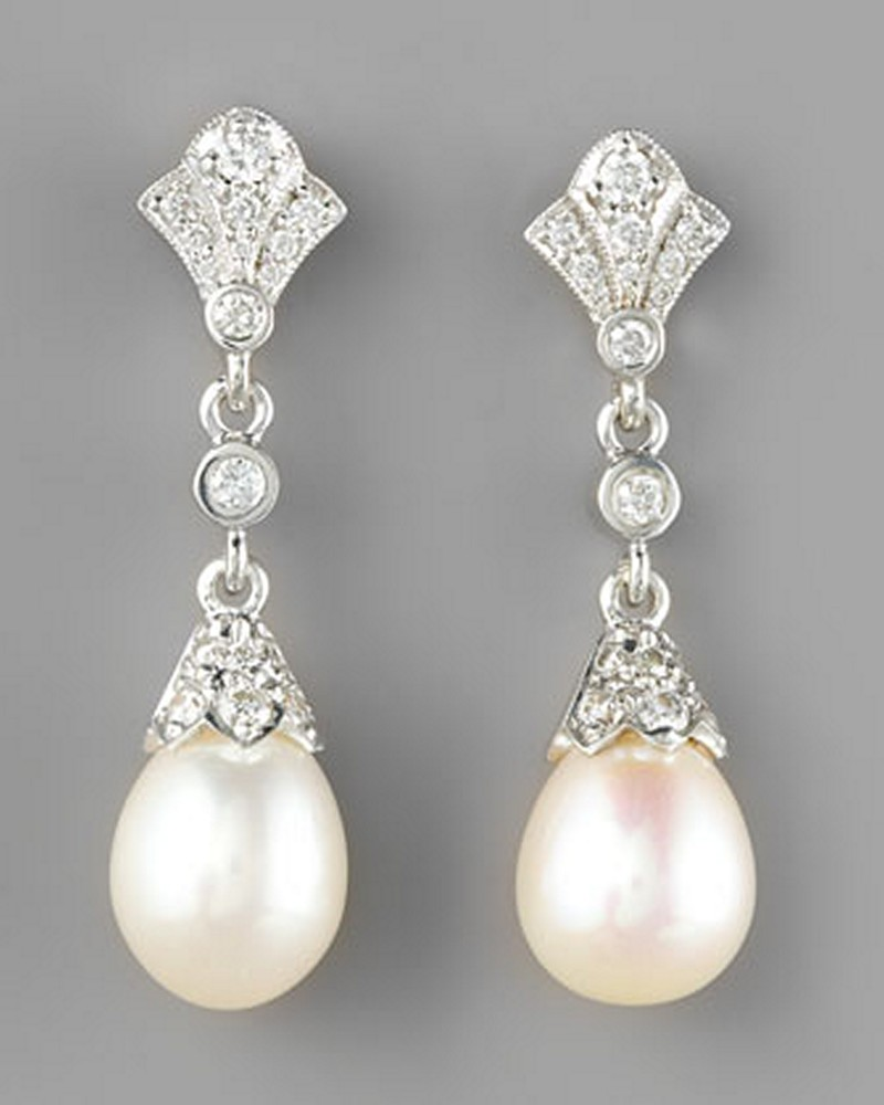 Earrings diamond wedding brides (53)