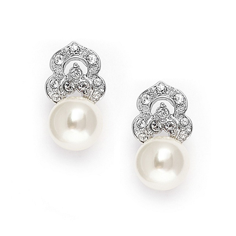 Earrings diamond wedding brides (60)