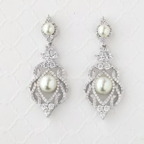 Earrings diamond wedding brides (65)