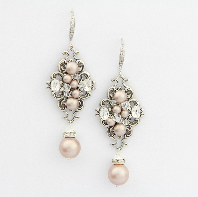 Earrings diamond wedding brides (74)