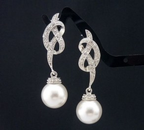Earrings diamond wedding brides (75)