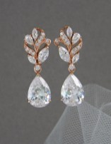 Earrings diamond wedding brides (83)