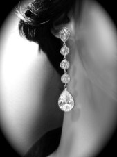 Earrings diamond wedding brides (85)