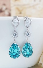 Earrings diamond wedding brides (88)