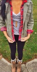 Ways to wear flanel for women (115)