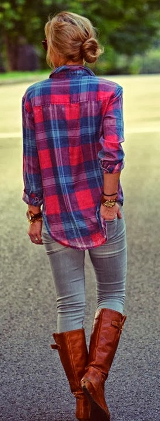 Ways to wear flanel for women (14)