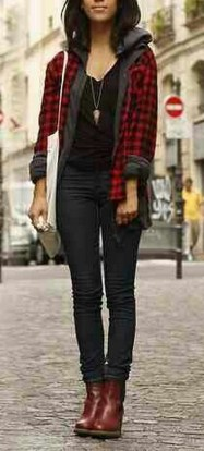 Ways to wear flanel for women (31)