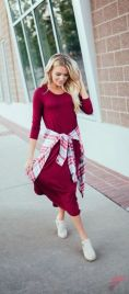Awsome casual midi dress155