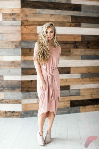 Awsome casual midi dress163