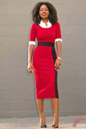 Awsome casual midi dress174