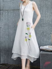 Awsome casual midi dress186
