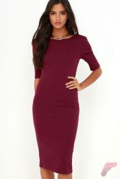 Awsome casual midi dress220