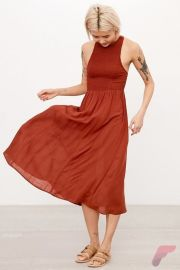 Awsome casual midi dress30