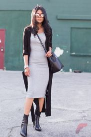 Awsome casual midi dress36