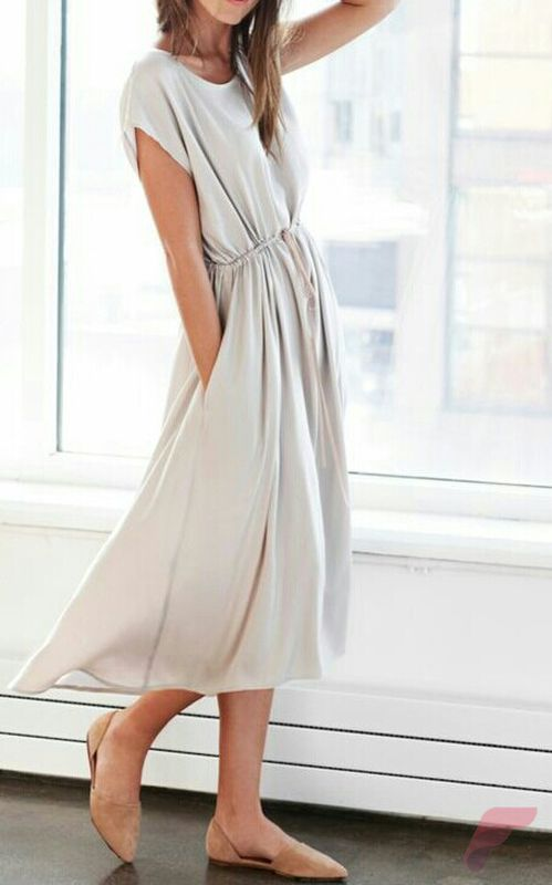 Awsome casual midi dress38