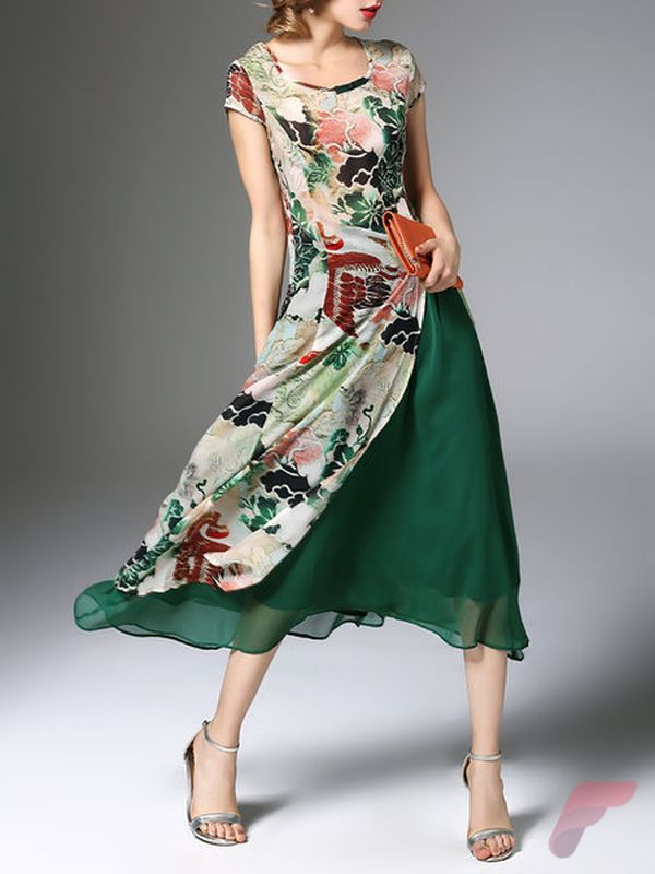 Awsome casual midi dress43