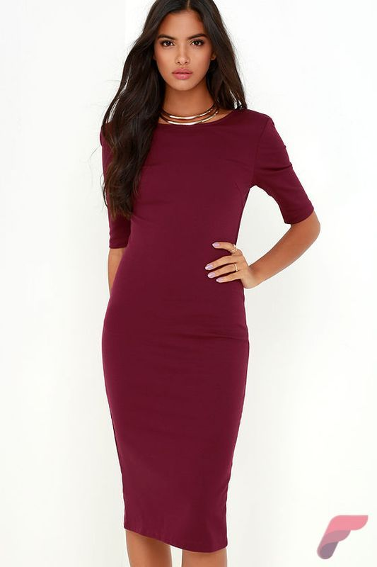 Awsome casual midi dress69