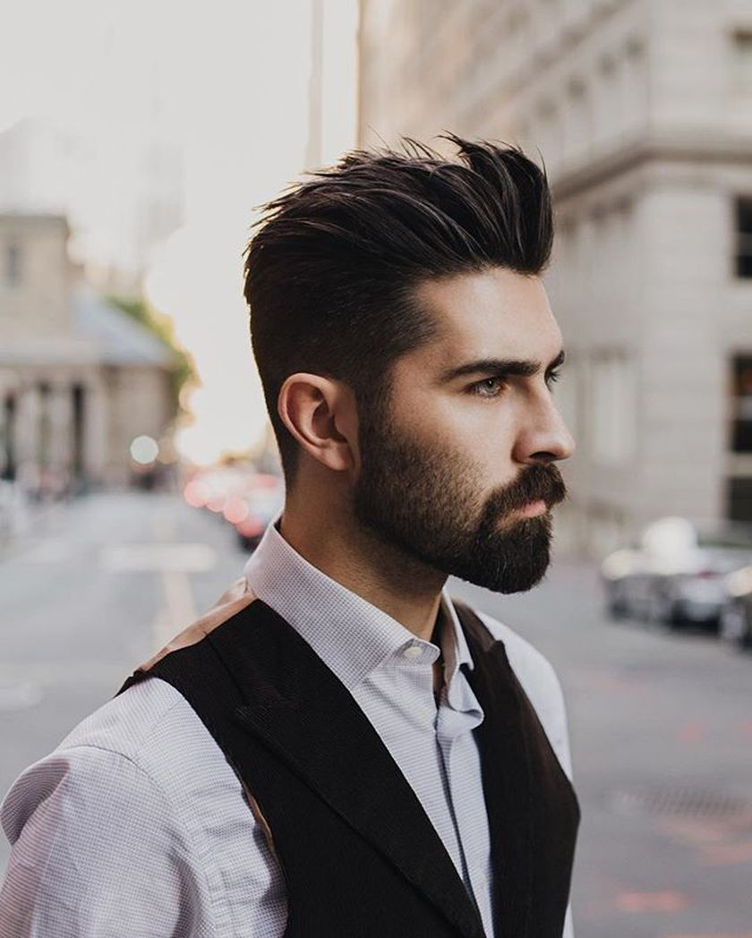 Best men short beard and mustache style 40