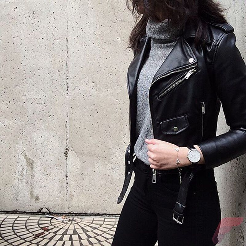 Black leather jacket outfit 31