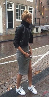 Black leather jacket outfit 56