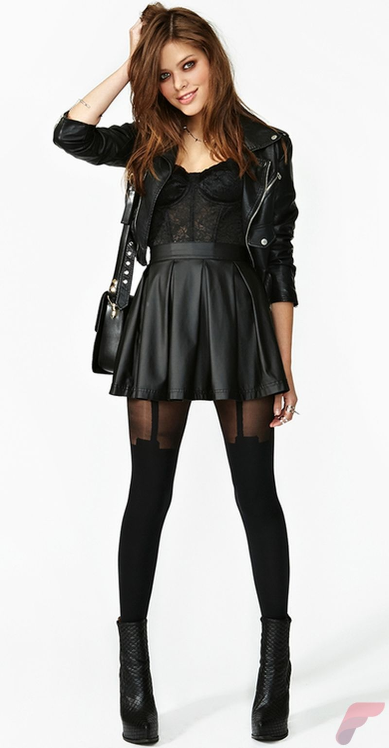 Black leather jacket outfit 58