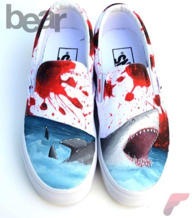 Custom painted vans shoes 21