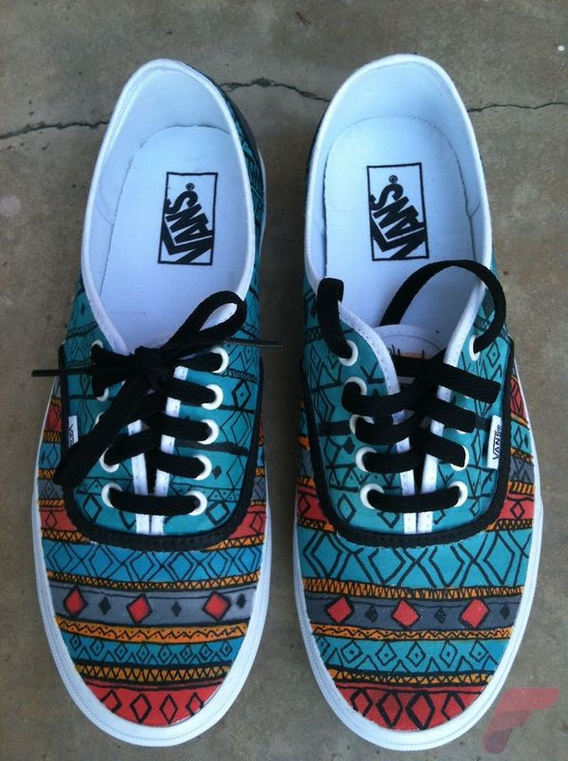 Custom painted vans shoes 26