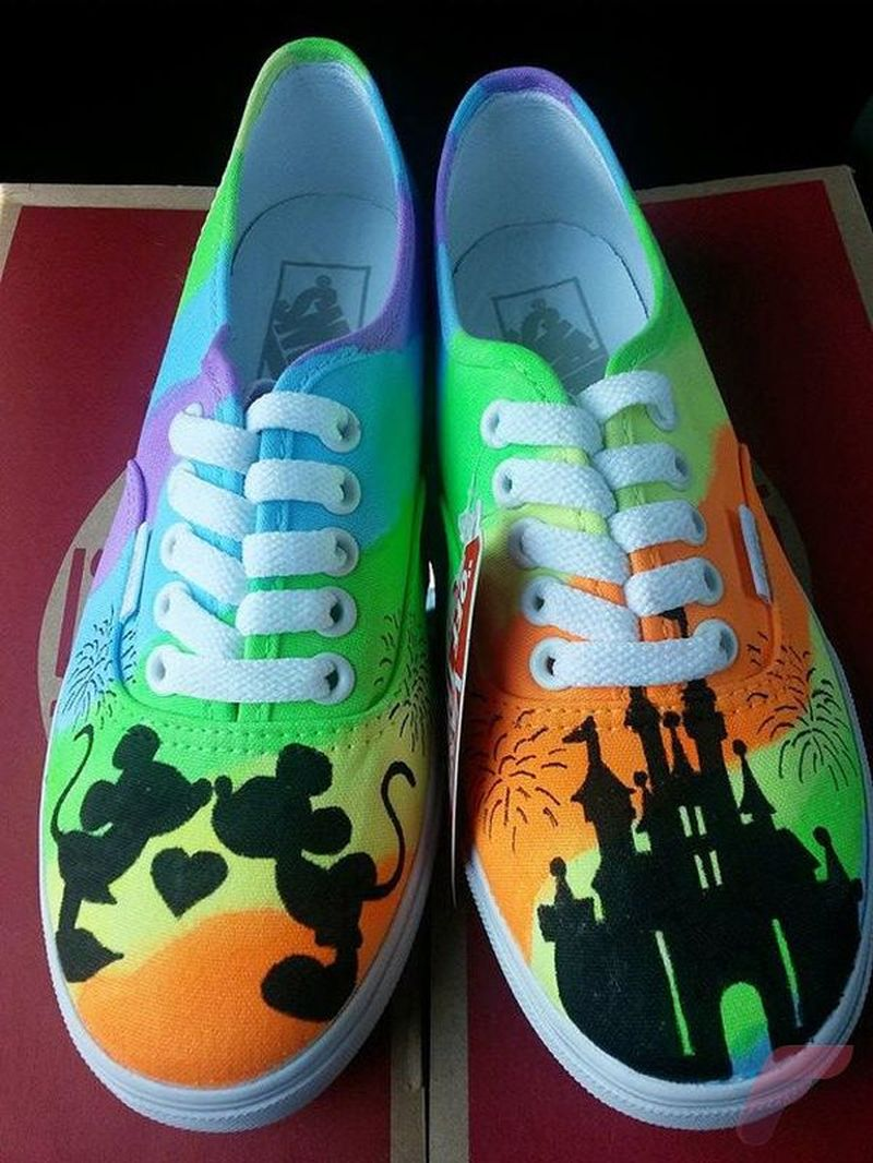 Custom painted vans shoes 27