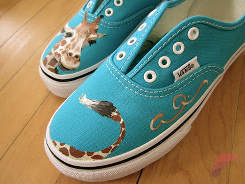 Custom painted vans shoes 36