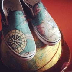 Custom painted vans shoes 39