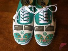 Custom painted vans shoes 40