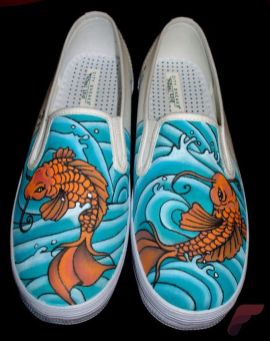 Custom painted vans shoes 48