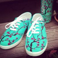 Custom painted vans shoes 49