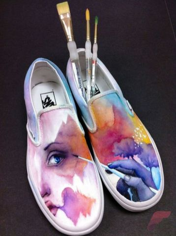 Custom painted vans shoes 61