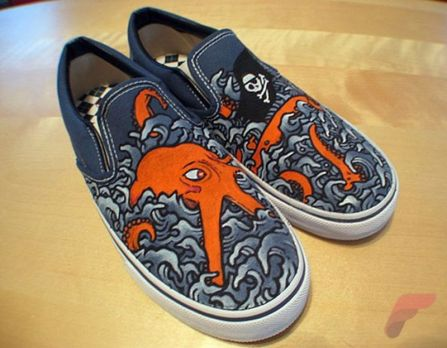 Custom painted vans shoes 7