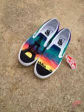Custom painted vans shoes 82