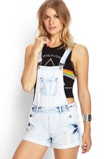 Denim overalls short outfit 105