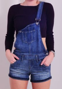 Denim overalls short outfit 115