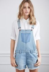 Denim overalls short outfit 117
