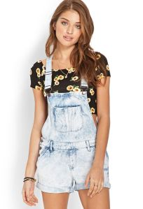 Denim overalls short outfit 64