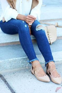 Flat lace up shoes trend 54