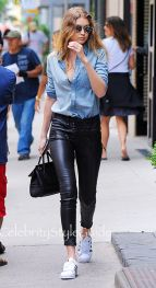 Gigi hadid sneakers outfit on the street 11